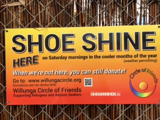 WCoF Shoeshine sign